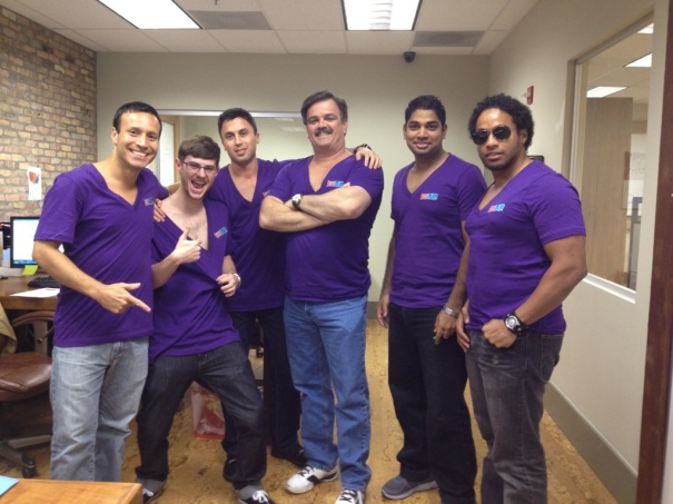 Purple Deep V Fridays take the LogoUp offices by Storm