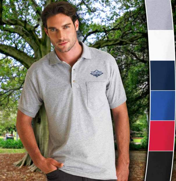 Gildan DryBlend Jersey Pocket Polo | $13.97 Embroidered w/ Your Logo!