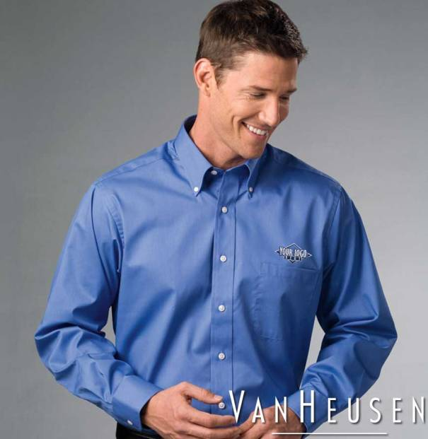 Van Heusen Long Sleeve Dress Twill | Only $27.99 Embroidered w/ Your Logo!