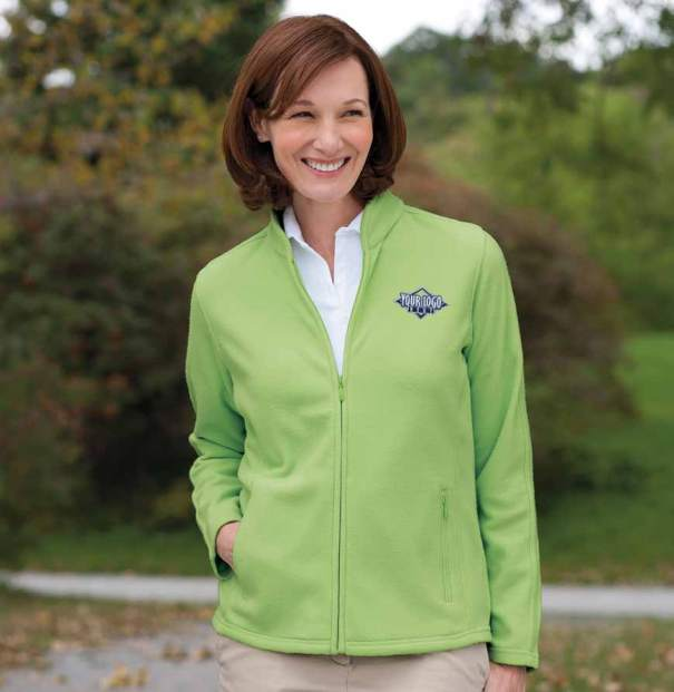 Ladies Full Zip Fleece | $24.99 Embroidered w/ Your Logo